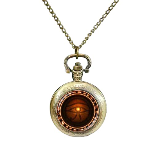 Reloj de bolsillo Steel The Eye of Horus Runas of Magic Pocket Watch Evil Eye Jewelry