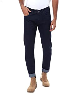 Andora Mid-Rise Side-Pocket Straight-Leg Solid Jeans for Men