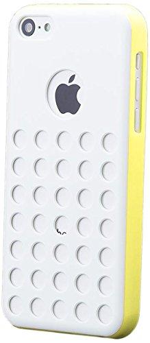 iCues Apple iPhone 5C Agujeros Amarillo Caja | Piel Protectora de protección [Protector de Pantalla, Incluyendo] Cubierta Cubierta Funda Carcasa Bolsa Cover Case