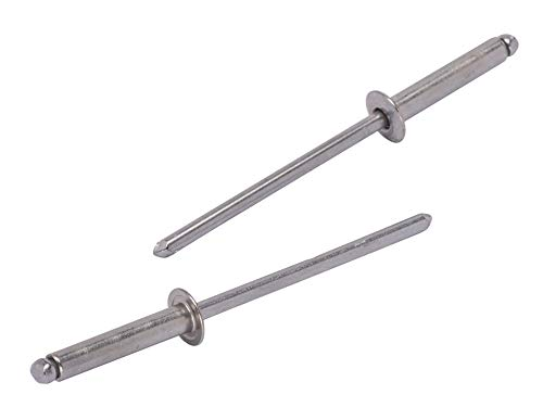 FPC84A-100 Short Aluminum Rivets 100 Count 1//4 Diameter 1//4 Grip