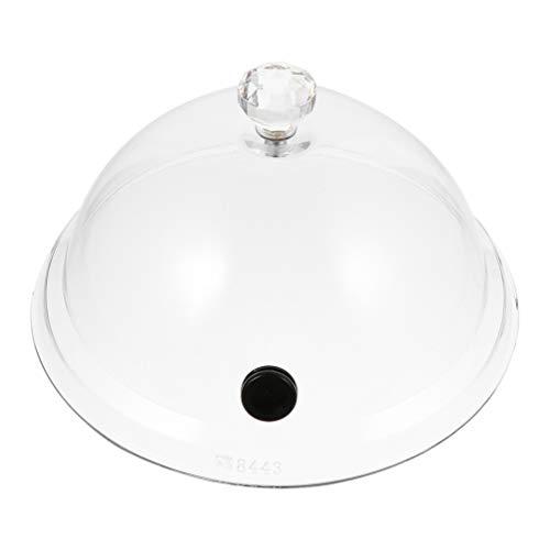 Cabilock Cubierta de Plástico Transparente Redonda para Pasteles de Cocina Protector de Servidor de Pasteles de Magdalenas 31. 5Cm