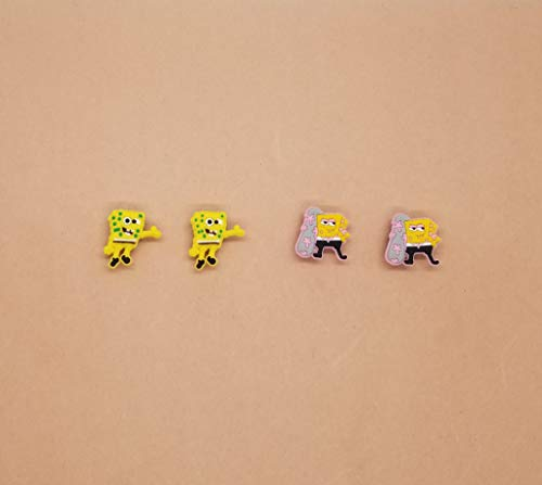 Spongebob Croc Shoe Charms Wristband Charms Shoe Lace Adapter Charms Generic Handmade Set of 4