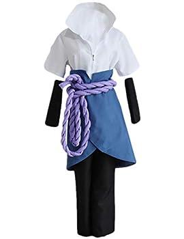 Hot Japan Anime NARUTO Uchiha Sasuke Cosplay Costumes Halloween Party Costume for man woman 7pic set