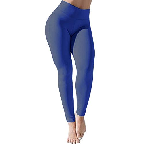 2021 Nuevo Mujer Leggings Pantalones, Elásticos Alta Cintura Mallas Color sólido Pantalones Largo Fitness Mallas Gym Yoga Leggings Slim Fit Pantalones Deportivos Running Aptitud Pantalon