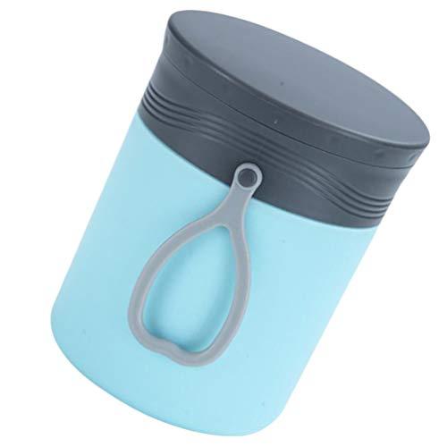 Cabilock Porta-mingau para sopa e micro-ondas Recipiente de alimentos isolado a vácuo em aço inoxidável sem BPA (azul)