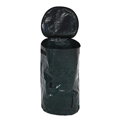 Sacchetto della piantatrice del giardino, sacchetto organico di compostaggio del panno del pe del PE di fermentazione dei rifiuti organici per l'iarda del giardino della cucina della frutta(45 x 80cm)