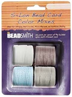 4 Spools Super-lon #18 Cord Ideal for Stringing Beading Crochet and Micro-macram Jewelry Compatible with Kumihimo Projects S-lon Apparition Mix