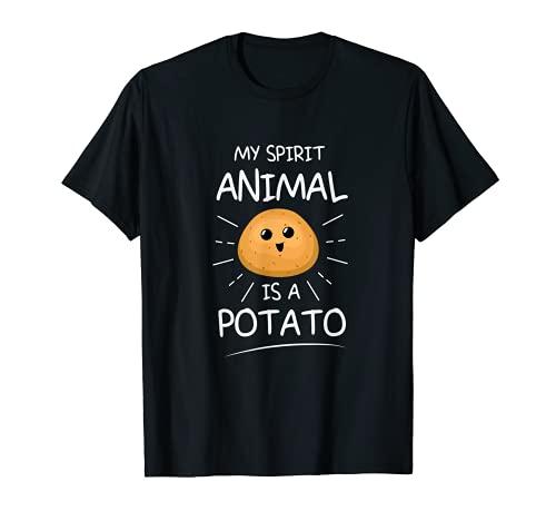 Design di patate dolci per gli amanti delle patatine fritte Maglietta