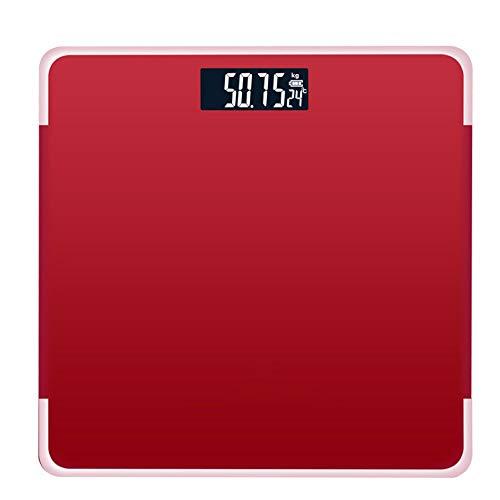 D-YYBB H-OUO balanzas Digitales, Pantalla LCD Índice Cuerpo Smart Weighing180Kg Electronic Báscula Digital Peso Corporal Humano, for el IMC, BMR, la Masa Muscular, Masa ósea, y más,por antropométrica