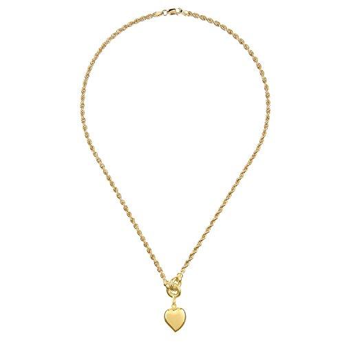 Citerna Collana con Pendente da Donna, Oro Giallo, 9 Carati