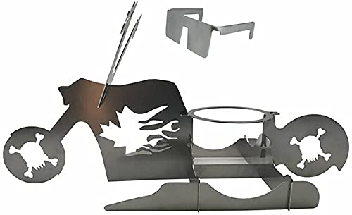 American Motorcycle Beer Can Chicken Roaster, Portable Chicken Stand Beer- American Motorcycle BBQ, Everyone's Barbecue Grill Must Have Grilling Accessories, for Outdoor BBQ And Forno (B)