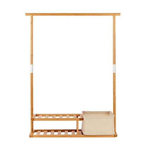 SDFGH kapstok, kledingrek, hoed-handtassen-hanger-hal, de 2 rijen voor schoenen- en wasrekken hangt 98,5 x 35 x 144 cm