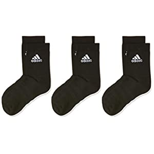 adidas Light Crew 3pp, Socks Uomo, Black/Black/Black, XS