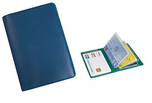 Porta carte di credito e tessere magnetiche 6 posti in pvc blu