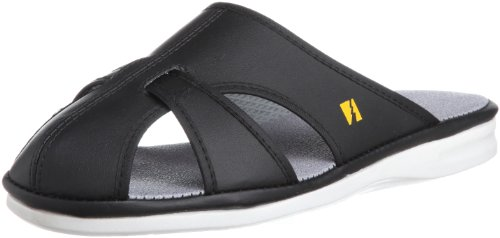 [ミドリ安全] 静電作業靴 静電気帯電防止 サンダル スリッパ エレパス PS01 ライトS メンズ ブラック L(25.5~26.0cm)(26cm)