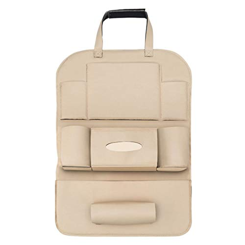 XMSIA Organizador de Respaldo de Automóviles para niños Universal Colgante Asiento Atrás Protector Patada Mat Travel Storage Bags Organizer Protector de Respaldo Impermeable