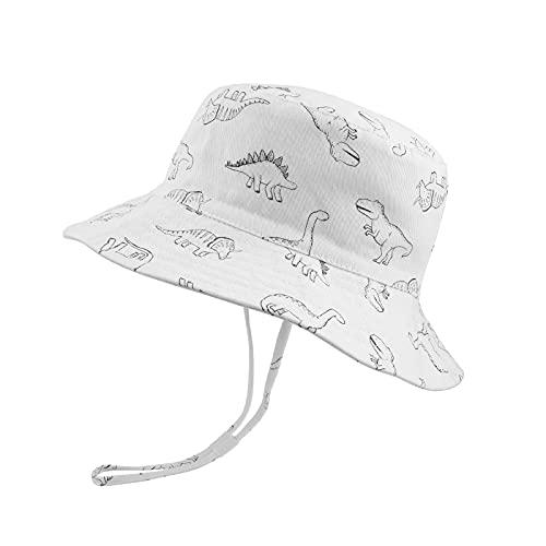 JUPSK Sombrero de Cubo para niños, Sombrero de protección para bebé Solar UV Sombrero de Sol para niñas Sombrero de Pescador para niños y niñas