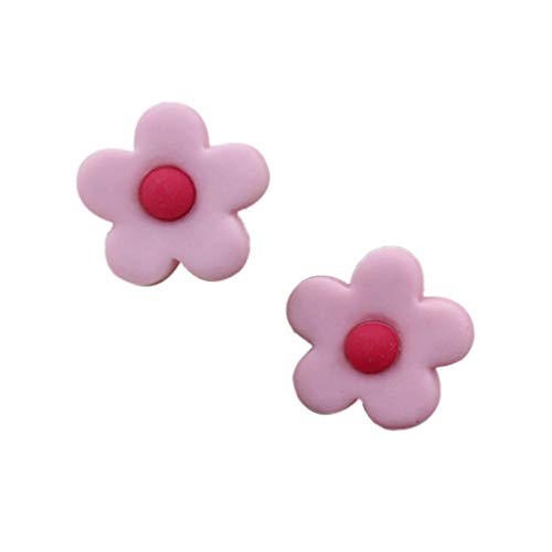 jieGorge Summer Small Fresh Qild Cute Flower Earrings , Earrings , Products for Xmas Day (Pink)