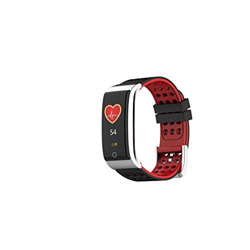 YCMTZ E08 Smartwatch, Aktivitäts-Tracker, Herzfrequenz- und Blutdrucküberwachung, HRV-Testbericht/Atemtraining, Schrittzählung, wasserdichtes Armband