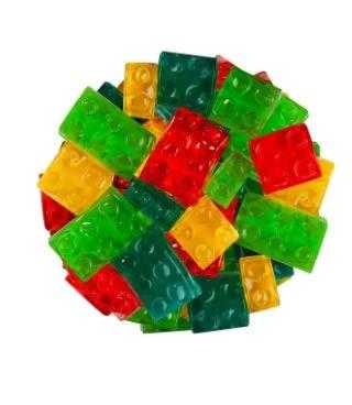 FirstChoiceCandy 3D Assorted Gummy Building Blocks Juicy Candy Blox, 2 Pound