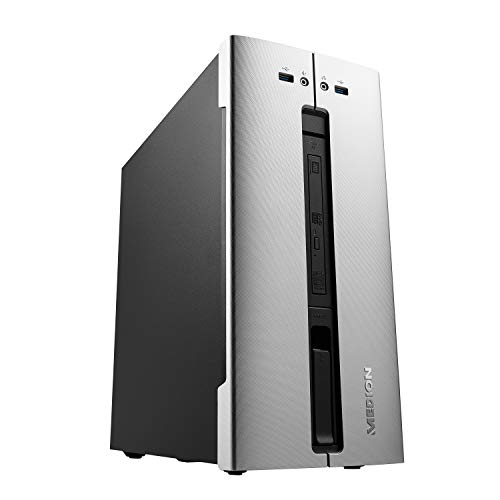 MEDION E62028 Desktop PC (Intel Core i5-10400, 8GB DDR4 RAM, 512GB SSD, DVD, Intel UHD, WLAN, Hot Swap, Win 10 Home)