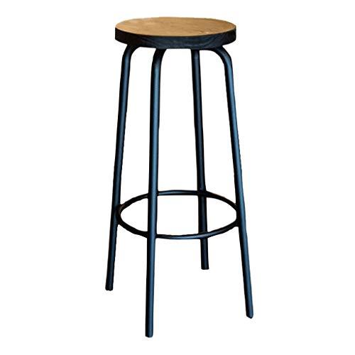 Tabouret haut Café Magasin de vêtements Chaise longue Chaise en fer forgé Chaise de salle à manger moderne (taille : 80cm)