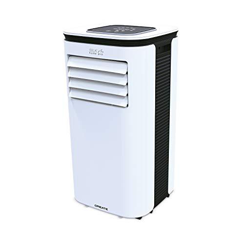 IKOHS SILKAIR Home Pro - Aire Acondicionado Portátil, 7000BTU, 1800 Frigorías, con 4 en 1 Aire Acondicionado, Calefactor, Ventilador, y Deshumidificador, Muy Silencioso, Incluye Mando