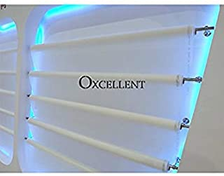 Oxcellent Screen Printing White Mesh 110 Mesh 43T 50inch(1.27m) Width 3Y(2.7m/8.8ft) Length for Cloth T-Shirt Screen Printing Machine Fabirc Monofilament Polyester