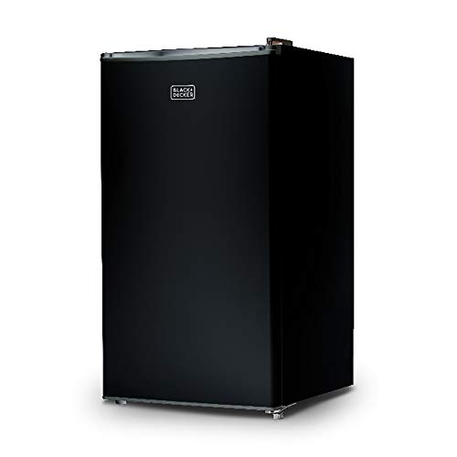 BLACK+DECKER BCRK32B Compact Refrigerator Energy Star Single Door Mini Fridge with Freezer, 3.2 Cubic Feet, Black