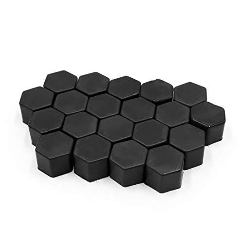 sourcingmap 20pcs silicone noir 19mm écrou roue moyeu roue voiture couvre poussière vis Protéger Caps