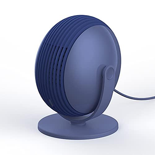 Ventilador Pequeño Sin Hojas Creativo Escritorio Mini Usb Vertical Azul