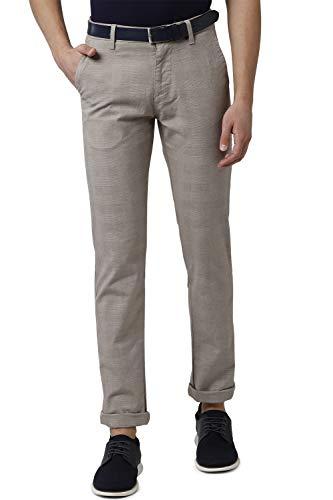 Peter England Men's Chino Slim Work Utility Pants (PCTFCSSP361995_Beige_36)