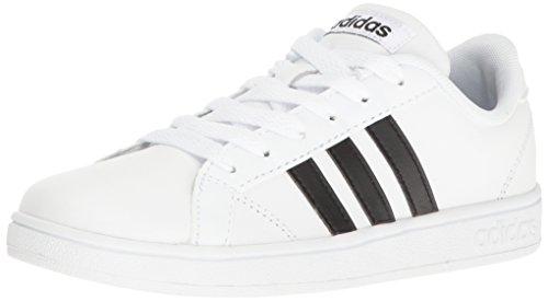 adidas Performance Unisex-Kids Baseline Sneaker, White/Black/White, 1.5 M US Little Kid