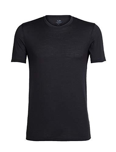 Icebreaker Herren T-Shirt Tech Lite SS Crewe, Black, L, 103860001L