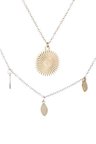 Córdoba Jewels | Gargantilla en Acero bañada en oro con diseño Sol Gold
