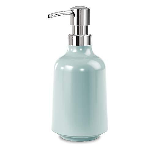 Umbra Step Seifenspender, Flüssigseifen Spülmittel-Spender mit 385ml Fassungsvermögen aus Melamin für Badezimmer und Küche, Meeresblau, normal