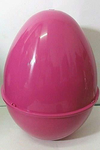 JJCkids, Uovo gigante in plastica, 35,6 x 27,9 cm, vuoto, colori: fucsia