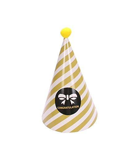 Blancho Bowknot, Fournitures 5Pcs d'anniversaire d'enfants Hat Party Party Hat
