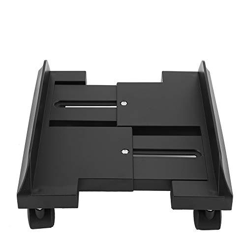 Supporto per Monitor Regolabile Removibile Mensola Supporto per Stand Staffa Desktop Mainframe Storage Rack Carrello Porta PC Portacase con Freno (Black)