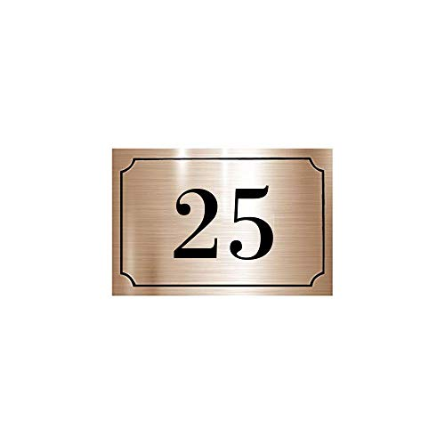 xmelug Numero Civico Moderno Altezza Cm 13 Porta Indirizzo Cassetta Postale Moderna in Acciaio Inossidabile per Porta di Casa 0-9 Numero Targa in Metallo per Esterno 1