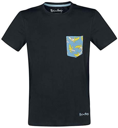 Rick And Morty Banana Pocket T-shirt, Male, Extra Large, Black Ts110015rmt-xl
