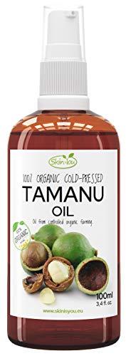 Tamanuöl 100% Bio Kaltgepresst 100ml | Tamanu Öl hilft bei der Behandlung der erkrankten Nagelplatte, Akne, Pickeln, allergischen Hautveränderungen, Pilzbefall