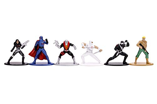 Jada Toys 253252014 GI Joe Nanofigs 6 Nano Collectable Figures from Die-Cast, Duke, Cobra Commander, Baroness, Snake Eyes, Destro, Storm Shadow, Toy Figures, 6 Pieces/Set, 4 cm, from 8 Years