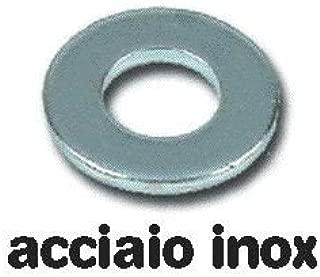 500 pz Rondelle Piane in Acciaio Inox  Uni 6592 misura 10 mm conf
