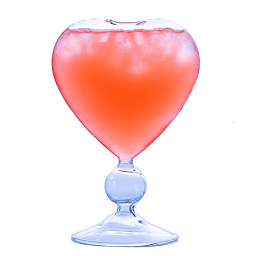 RYSF Cariño en Forma de corazón Coctel de cóctel de Vidrio Barra Creativa Barmer Barmer Bebida Especial Cobla de Paja (Size : 1pcs)