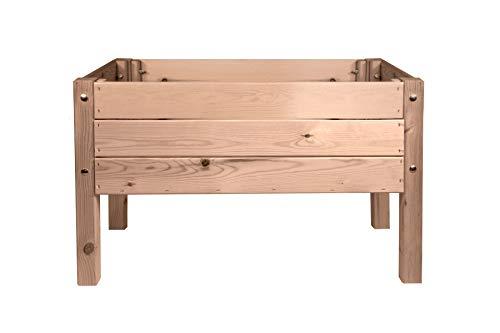 mgc24 Hochbeet Massiv für Kinder - Kiefernholz Braun rechteckig für Garten/Terrasse/Balkon - 79 x 40 x 50 cm