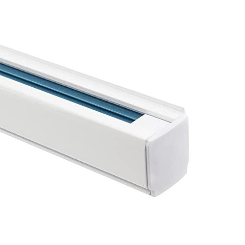 LEDKIA LIGHTING Binario Trifase Alluminio per Faretti LED 1 Metro Bianco