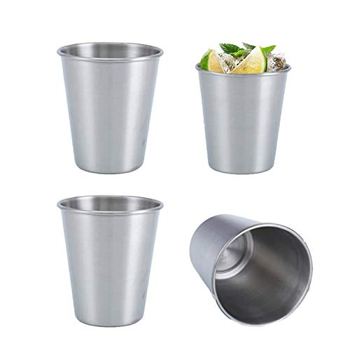 Vaso de Cerveza de Metal Reutilizable Acero Vasos de Pinta Vasos Copas...