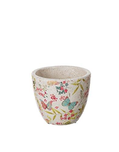Vaso in ceramica di farfalle (15.5x15.5x13)