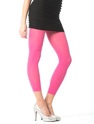 Rossmann under2wear modisch elegante Damen Leggings 7/8 Länge, 60 Den blickdicht Pink Gr. L (44/46)